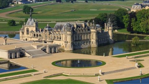 •Domaine de Chantilly vue aérienne pano © Jérôme Houyvet