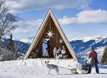 Noël est magique à la montagne